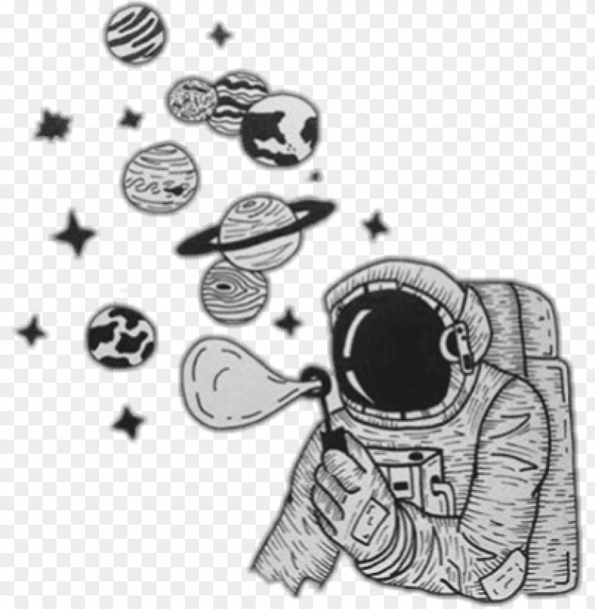 Doodle Stickers Tumblr Astronauta Png Image With Transparent