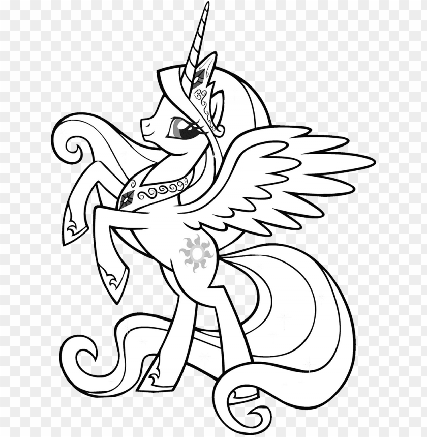 Download Princess Celestia Little Pony My Little Pony Princess Celestia Coloring Page Png Image With Transparent Background Toppng