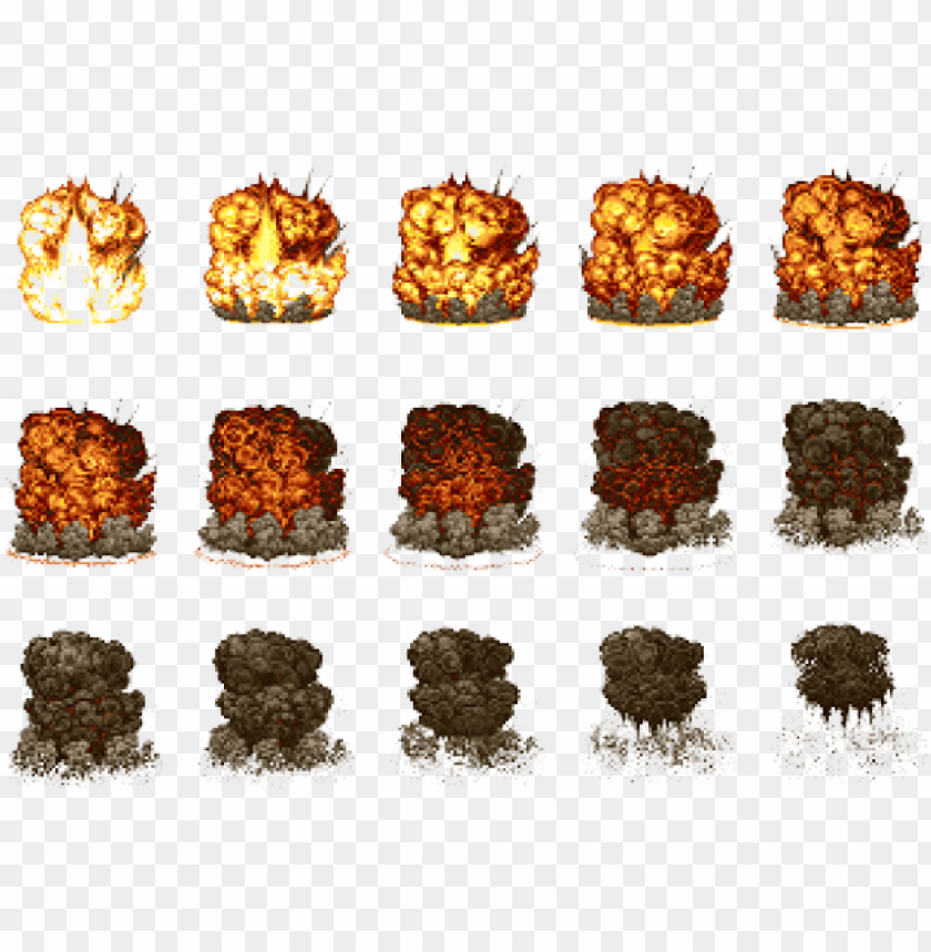 drawn explosion sprite - metal slug explosion sprites PNG image with transparent background@toppng.com