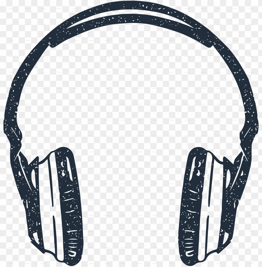 free PNG drawn headphone hipster - headphones vector PNG image with transparent background PNG images transparent