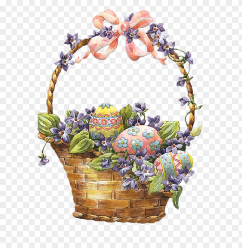 free PNG Download easter basket with eggs png images background PNG images transparent