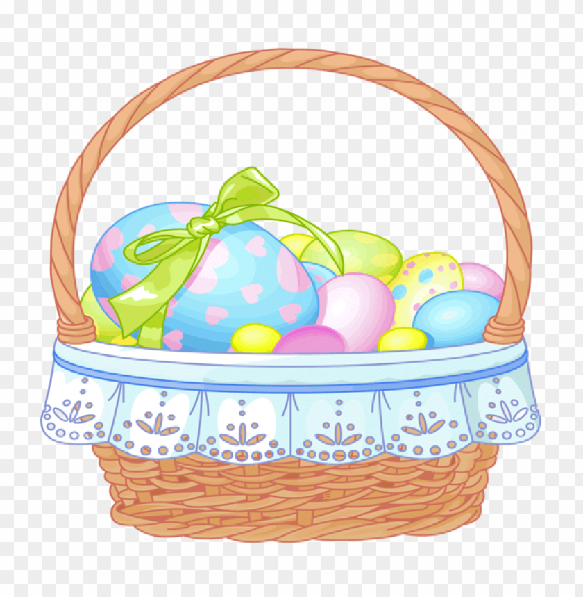 free PNG Download easter basket with eggs transparent png images background PNG images transparent