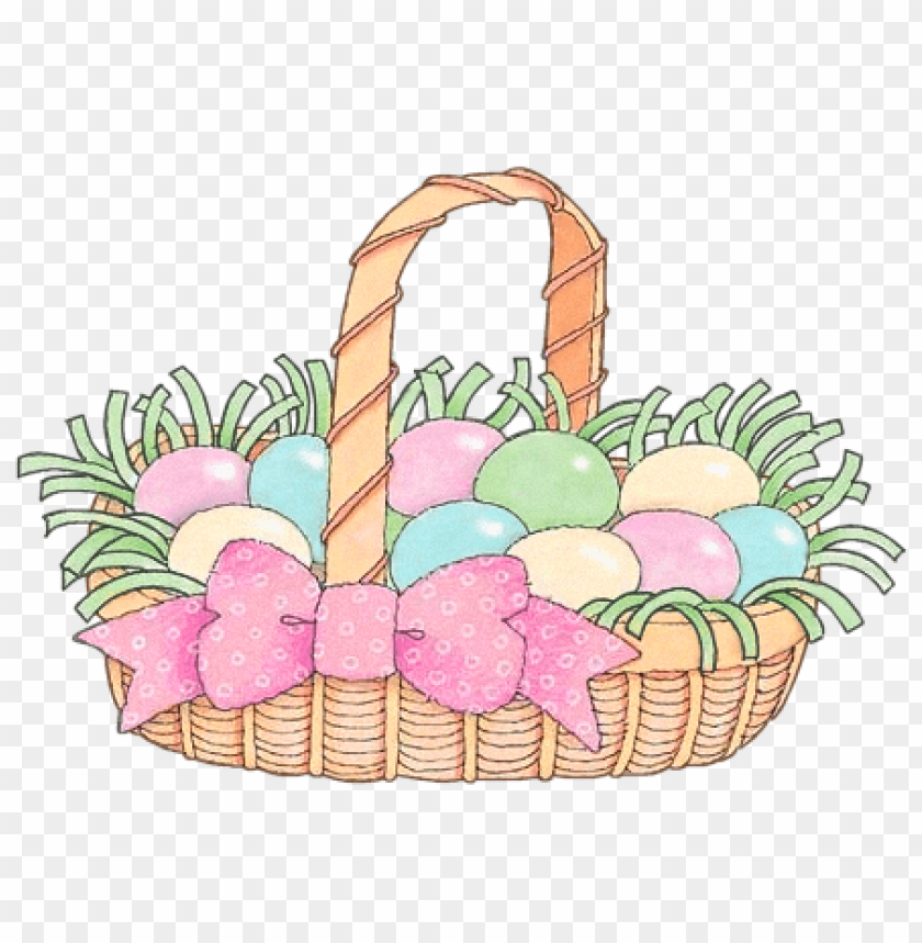 free PNG Download easter basket with pink ribbon png images background PNG images transparent