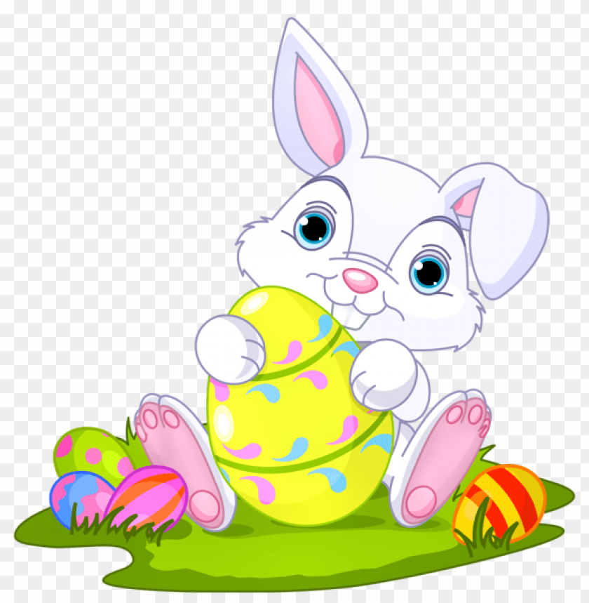 free PNG Download easter bunny with eggs decorpicture png images background PNG images transparent