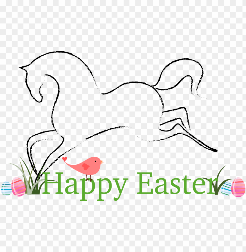 free PNG easter clipart horse - happy easter horse PNG image with transparent background PNG images transparent