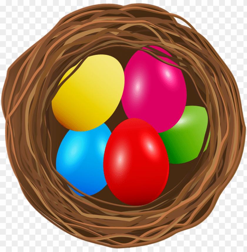 free PNG Download easter egg nest transparent png images background PNG images transparent
