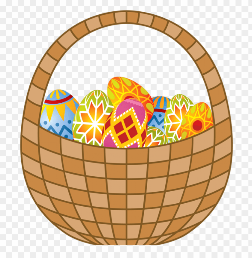 Download easter eggs and basket png images background@toppng.com