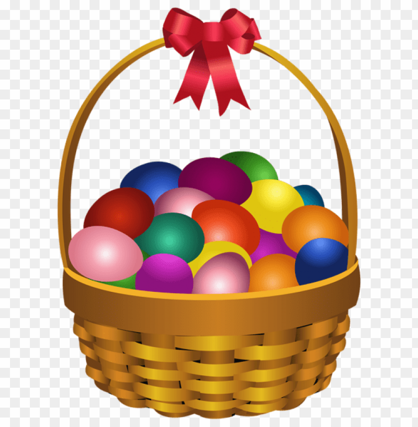 free PNG Download easter eggs in basket transparent png images background PNG images transparent