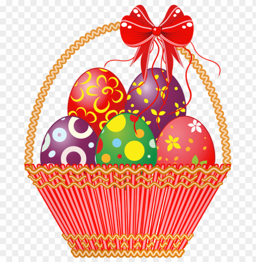 free PNG Download easter red basket with eggspicture png images background PNG images transparent