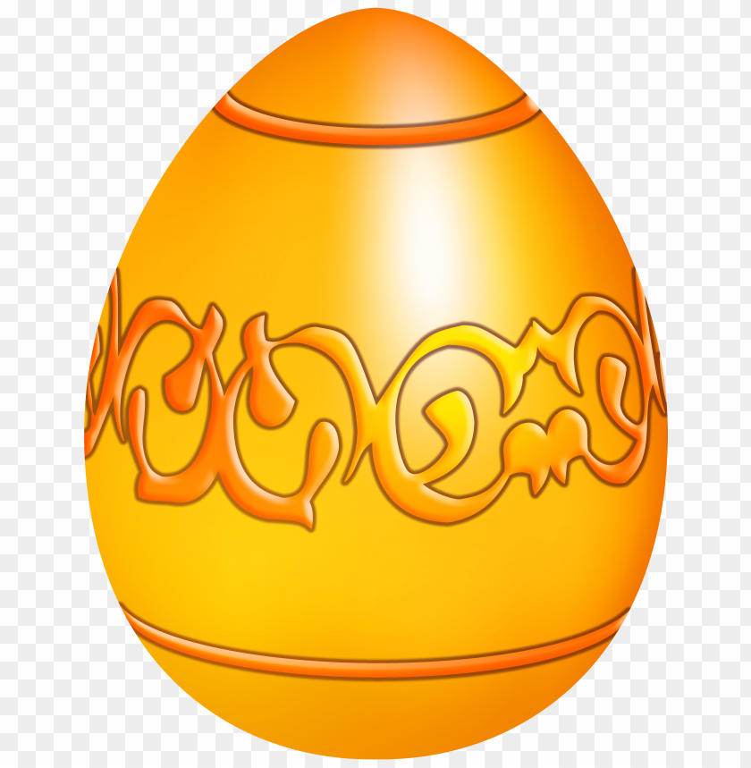 free PNG Download easter yellow decorative egg clipart png photo   PNG images transparent