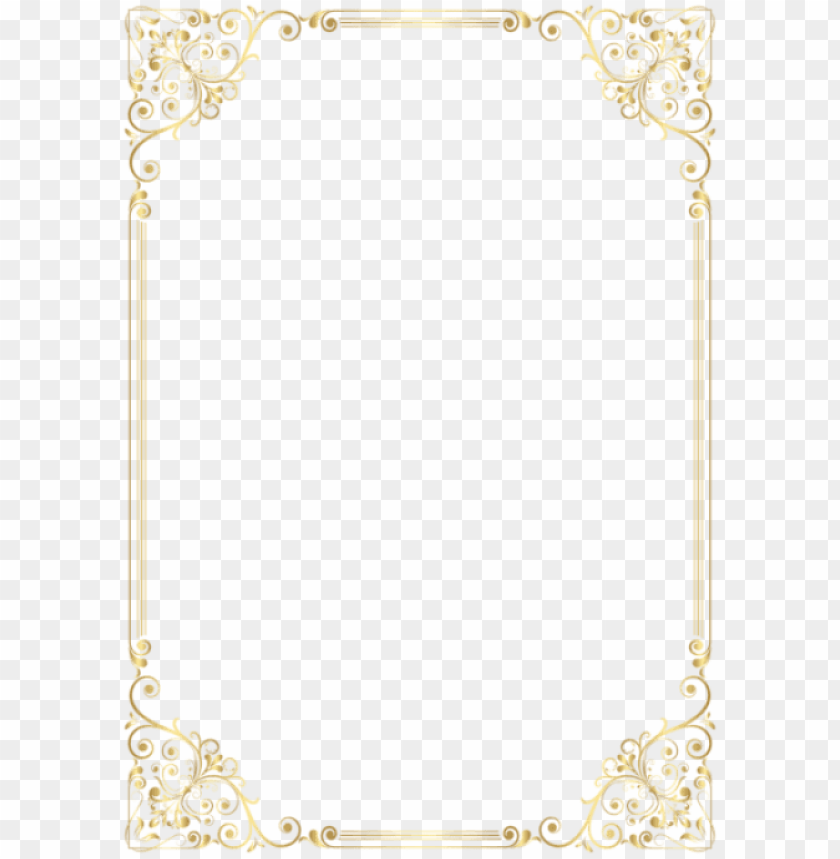 elegant gold page borders PNG image with transparent ...