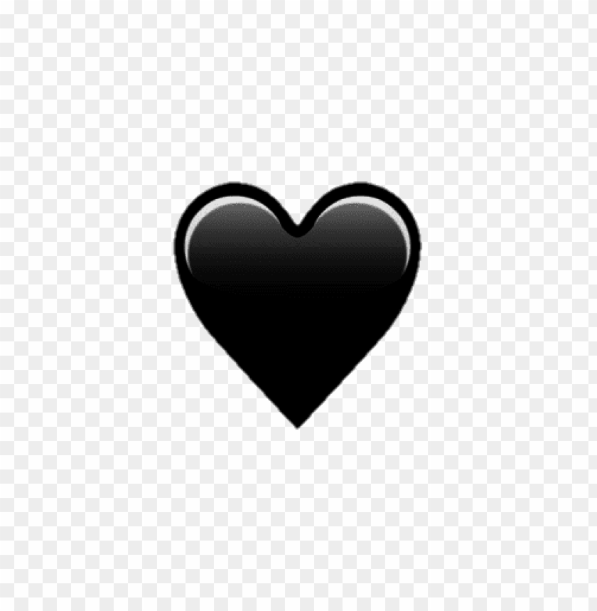 Emoji Black Heart Png Png Free Png Images Toppng