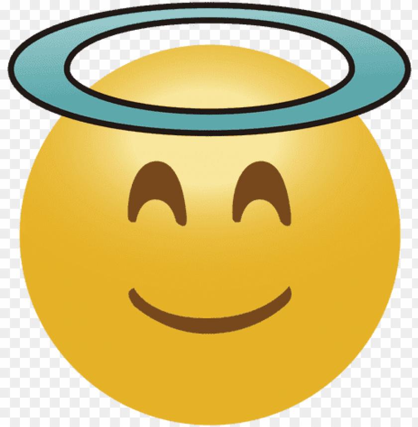 free PNG emoji facetransparent - emoto angel PNG image with transparent background PNG images transparent