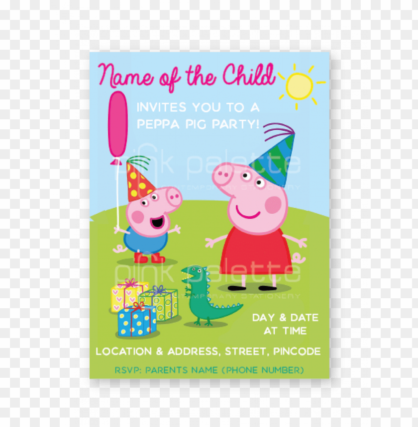 Eppa Pig Party E Invite Peppa Pig My Birthday Party Dvd Png Image
