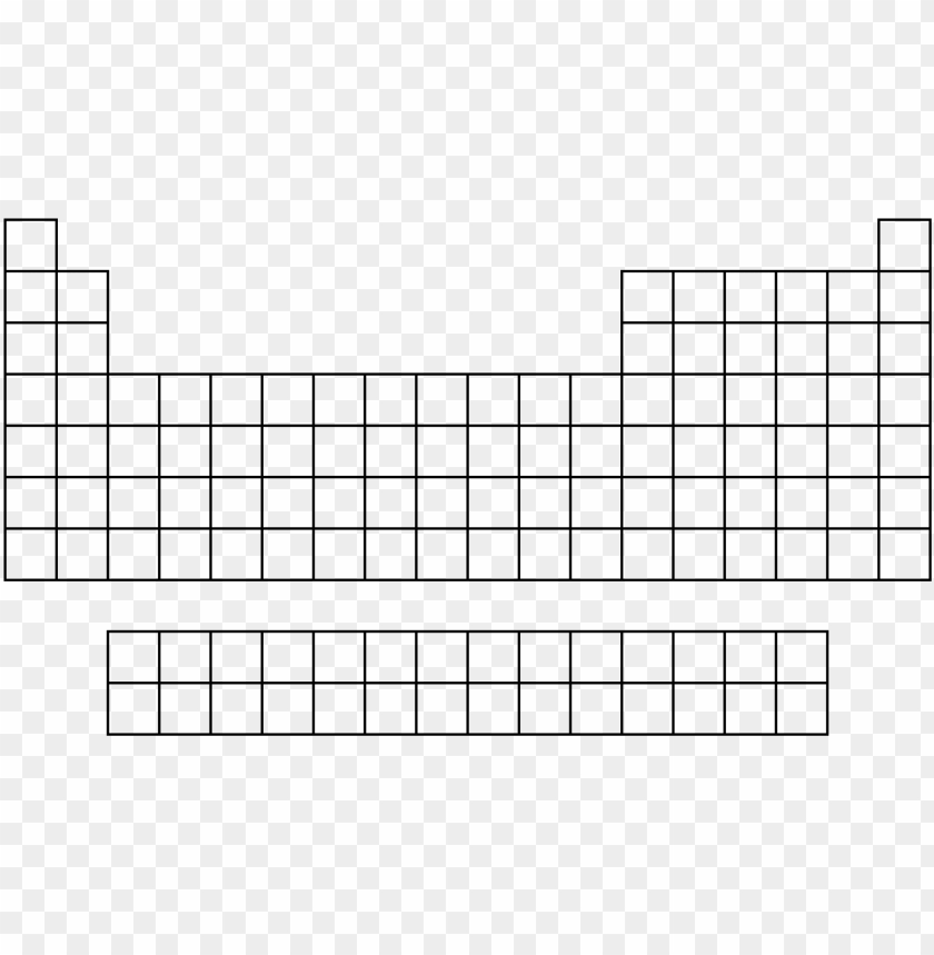 picture relating to Printable Blank Periodic Table known as eriodic desk blank - periodic desk drawing vacant PNG picture