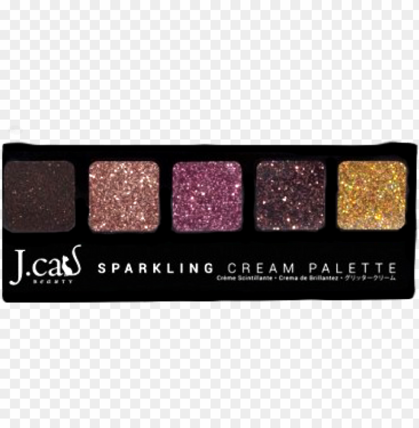 free PNG ew jcat cream glitter pallette - eye shadow PNG image with transparent background PNG images transparent