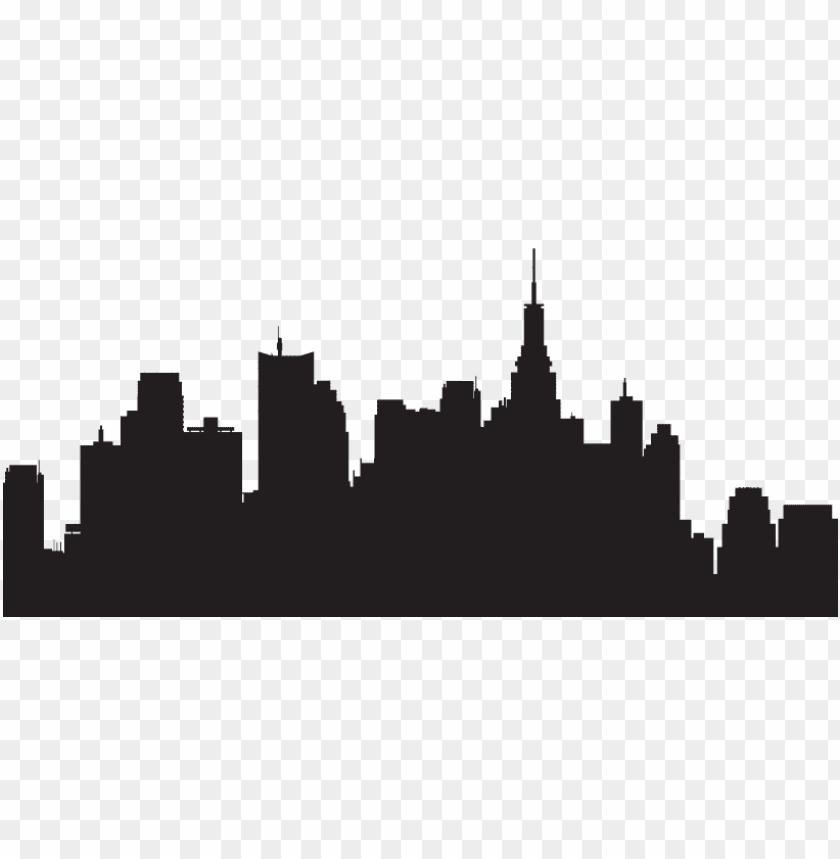 free PNG ew york skyline silhouette transparent PNG image with transparent background PNG images transparent