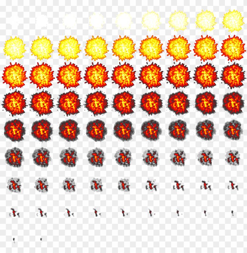 free PNG explosion sprite png - 2d explosion sprite sheet PNG image with transparent background PNG images transparent
