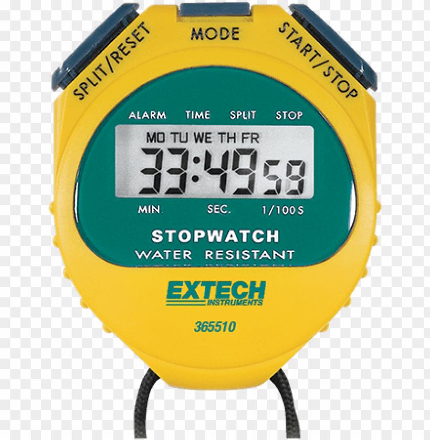 extech 365510 digital stopwatch,water resistant PNG image