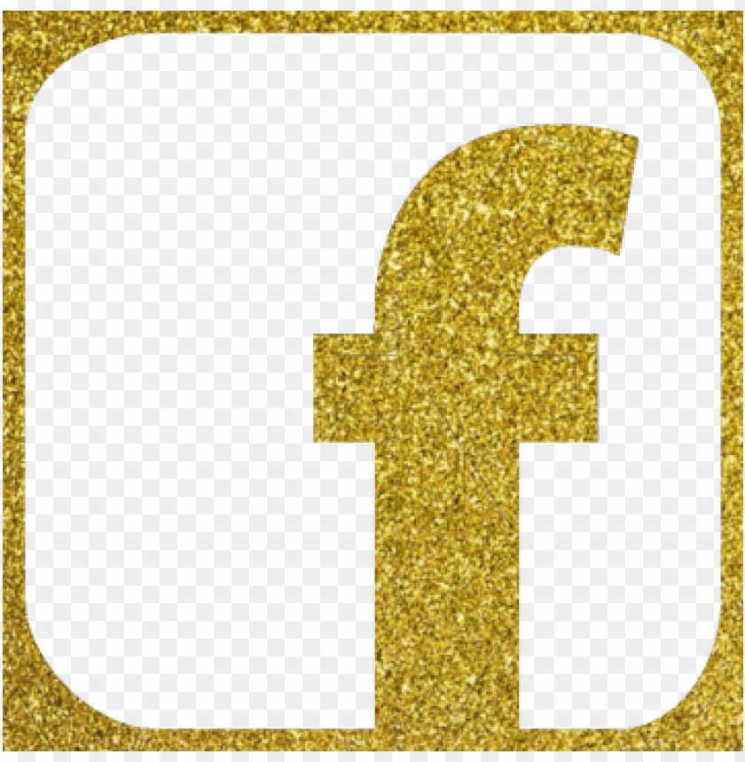 free PNG facebook icon, facebook icon, vector, gold color glitter - gold facebook logo PNG image with transparent background PNG images transparent