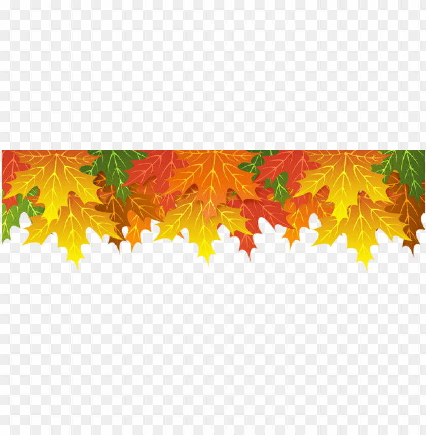 free PNG Download fall leaves upper border clipart png photo   PNG images transparent