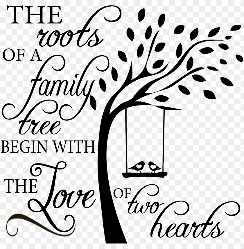free PNG family roots - sweetumswalldecals tree with birds on swing wall decal PNG image with transparent background PNG images transparent