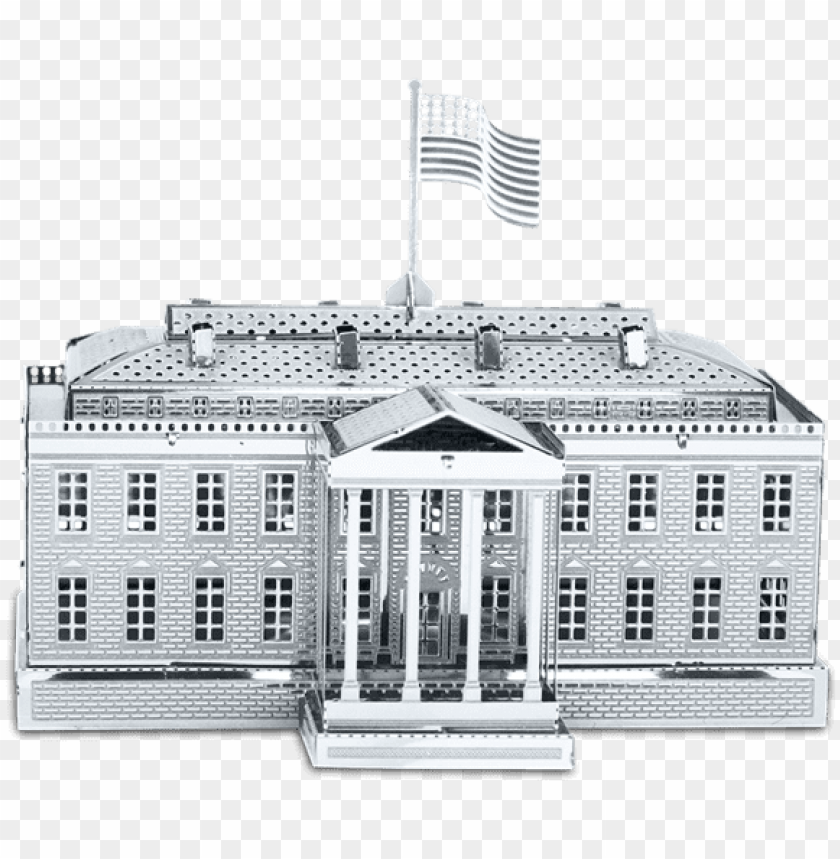 Fascinations Metal Earth White House 3d Metal Model Png
