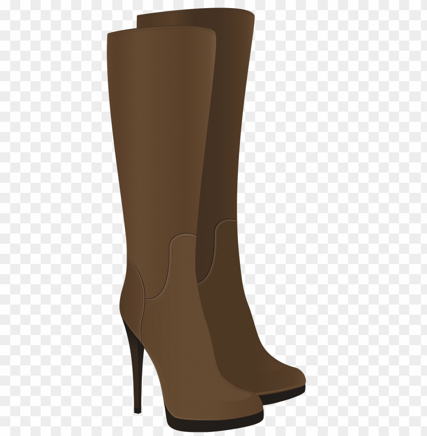 free PNG female brown boots PNG images transparent