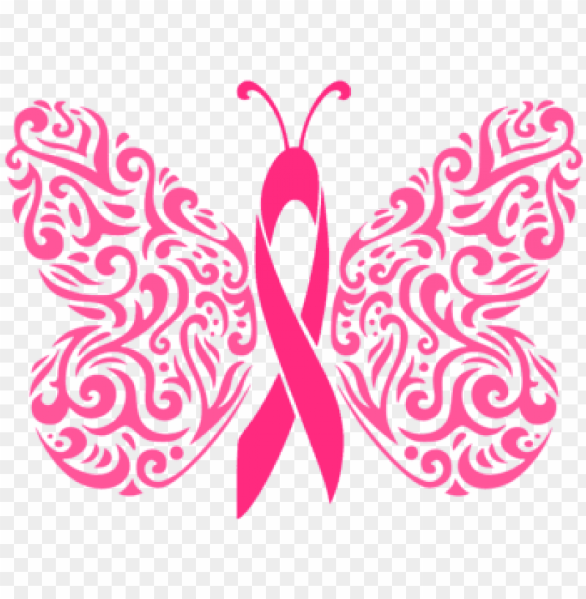 Filigree Awareness Butterfly Cancer Ribbon Svg Dxf Breast