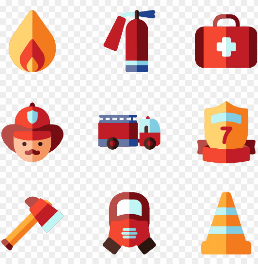 Fire Department 30 Icons Fire Extinguisher Icon Png Free