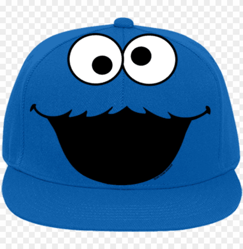 free PNG flat bill fitted hats 123 - cookie monster hat transparent PNG image with transparent background PNG images transparent