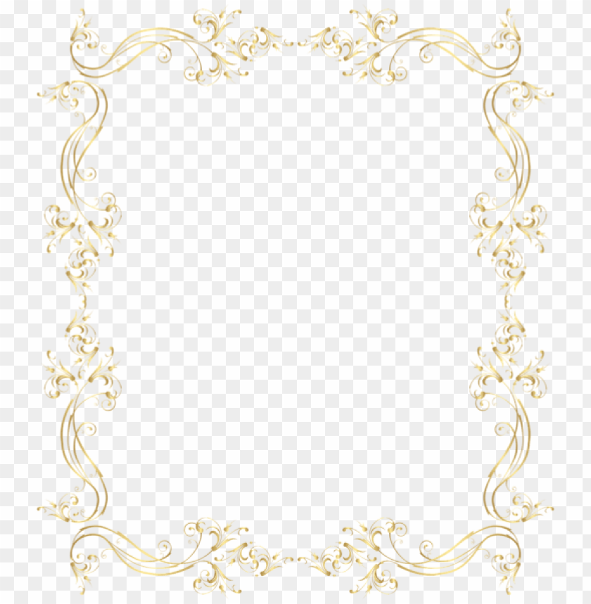 Download Floral Border Frame Png Gold Clipart Png Photo Toppng