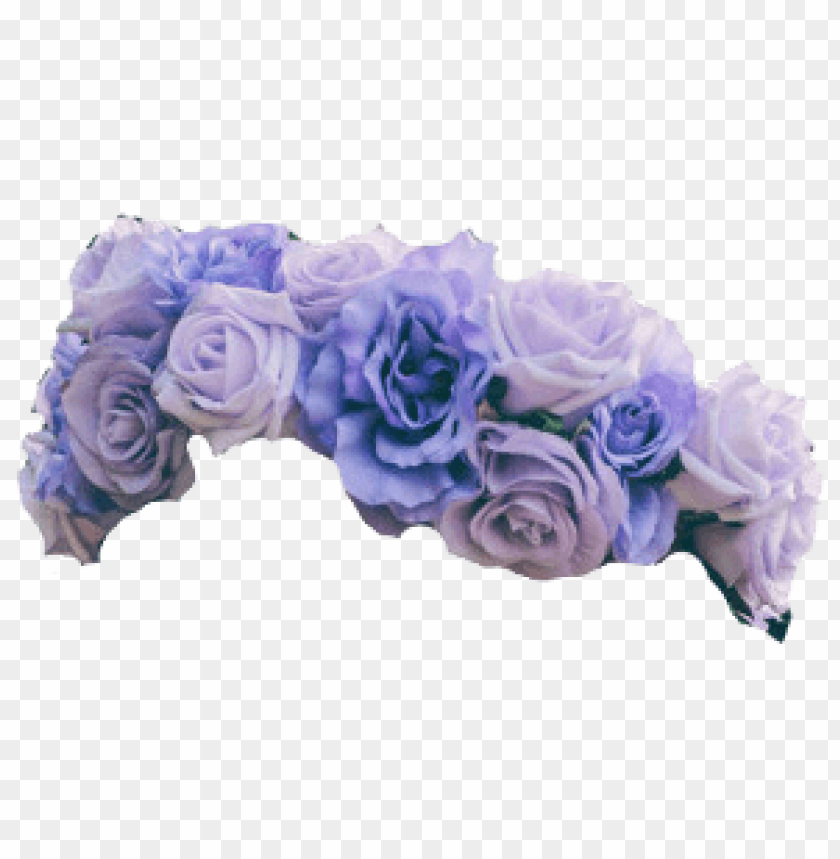 flower crown transparent overlay PNG image with transparent
