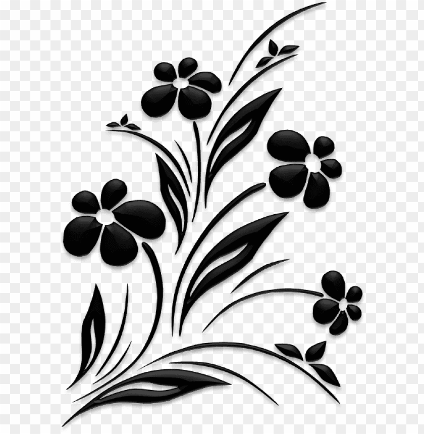 Download Flower Design Black And White Png Images Background Toppng