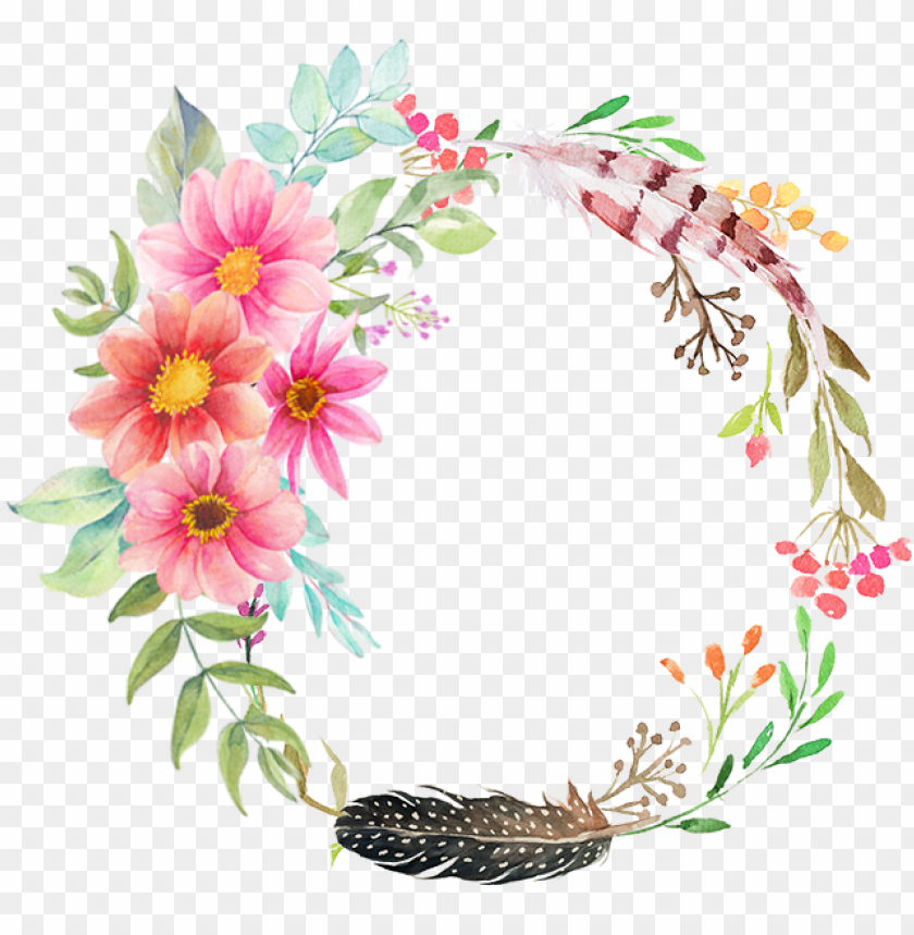 free PNG flower frame png - ring of flowers PNG image with transparent background PNG images transparent