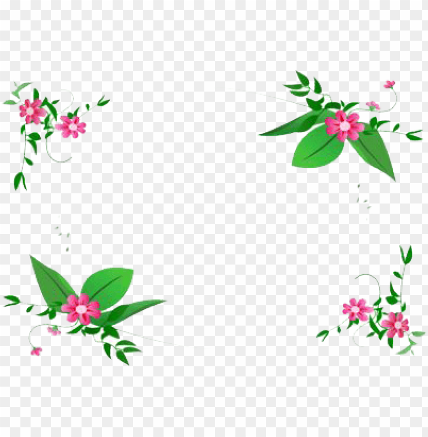free PNG flowers frame small PNG image with transparent background PNG images transparent