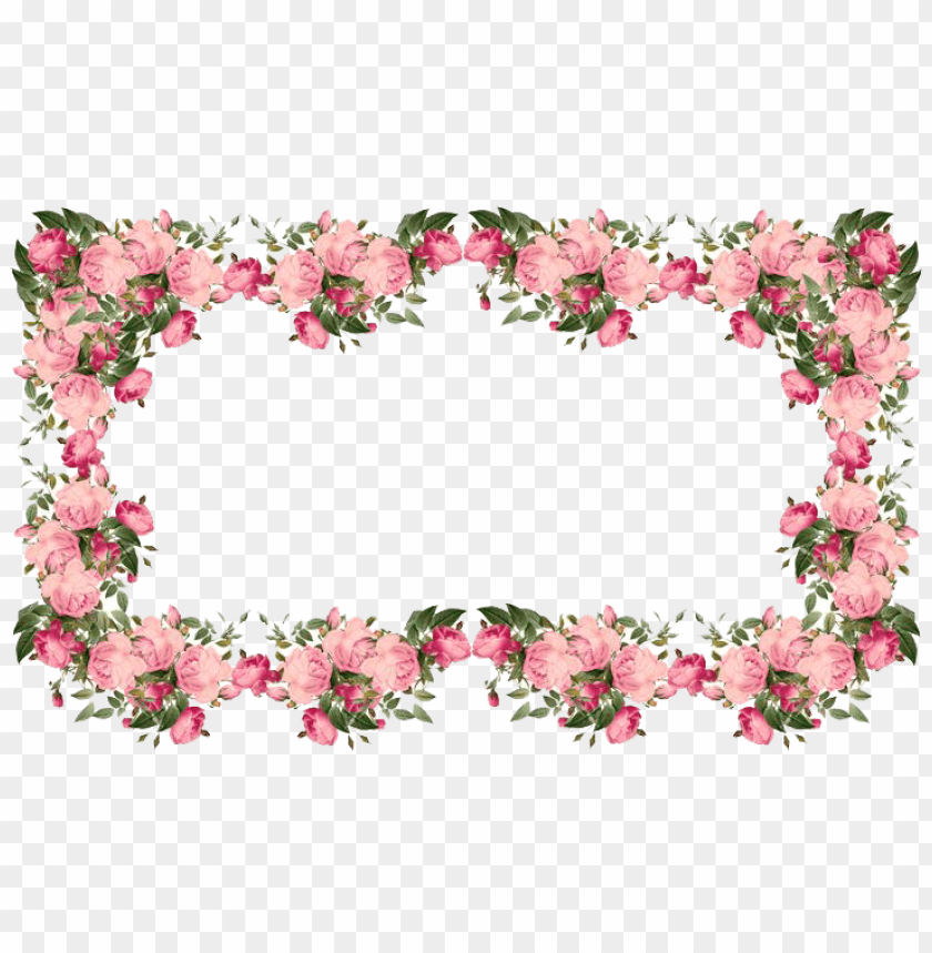 free PNG flowers pink frame PNG image with transparent background PNG images transparent
