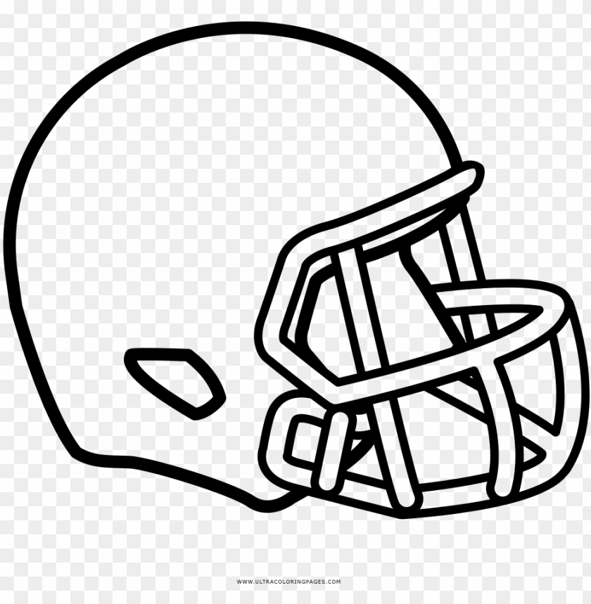 Football Helmet Coloring Page Casco De Rugby Dibujo Png