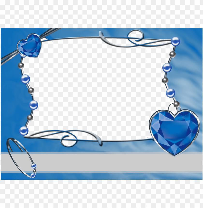 Frame Blue Blue Wedding Frame Png Image With Transparent