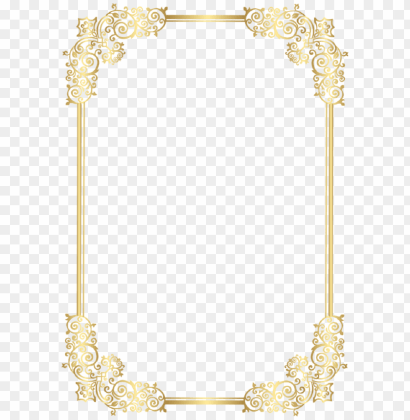 free PNG frame clipart, decorative frames, high quality images, - Рамка Для Текста Золотая PNG image with transparent background PNG images transparent