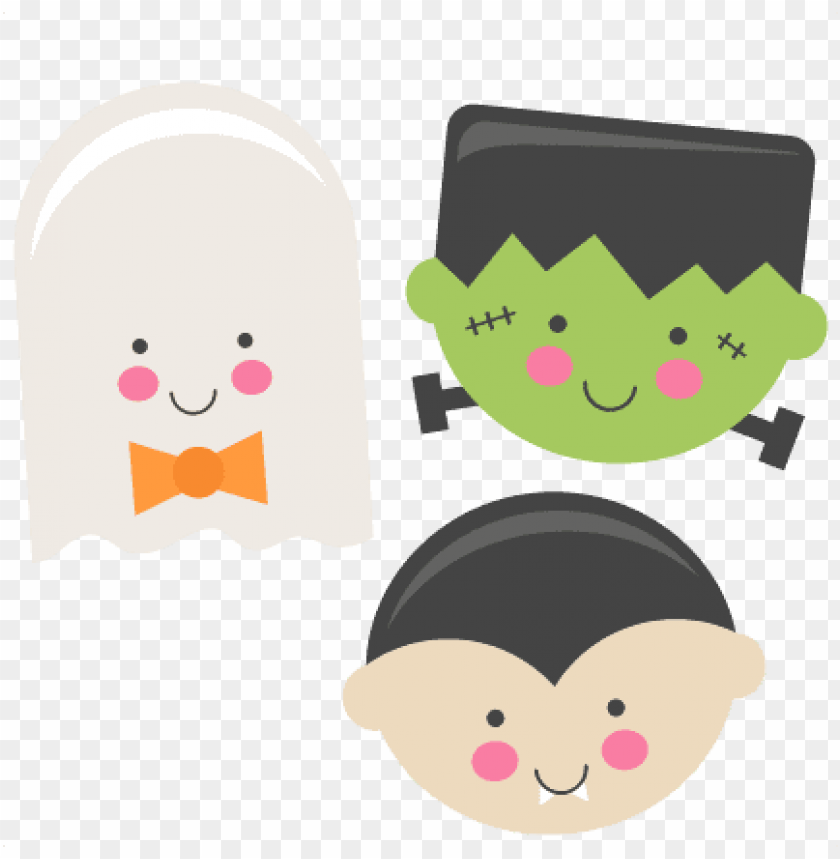 free PNG frankenstein large cute halloween set PNG images transparent