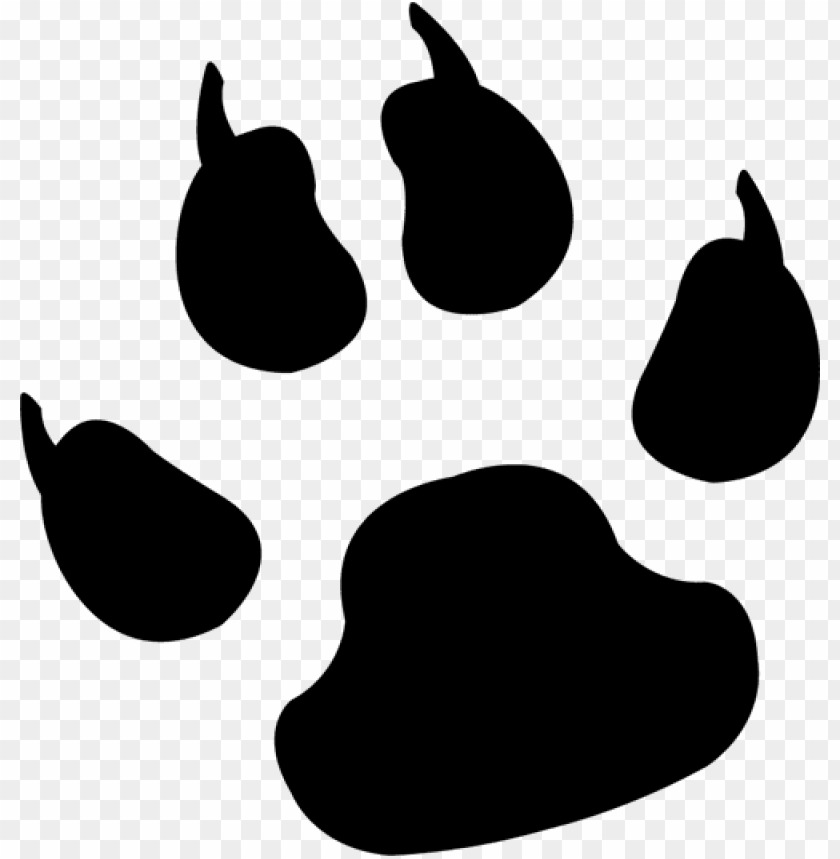 free download dog paw print clipart cat puppy paw - dog paw