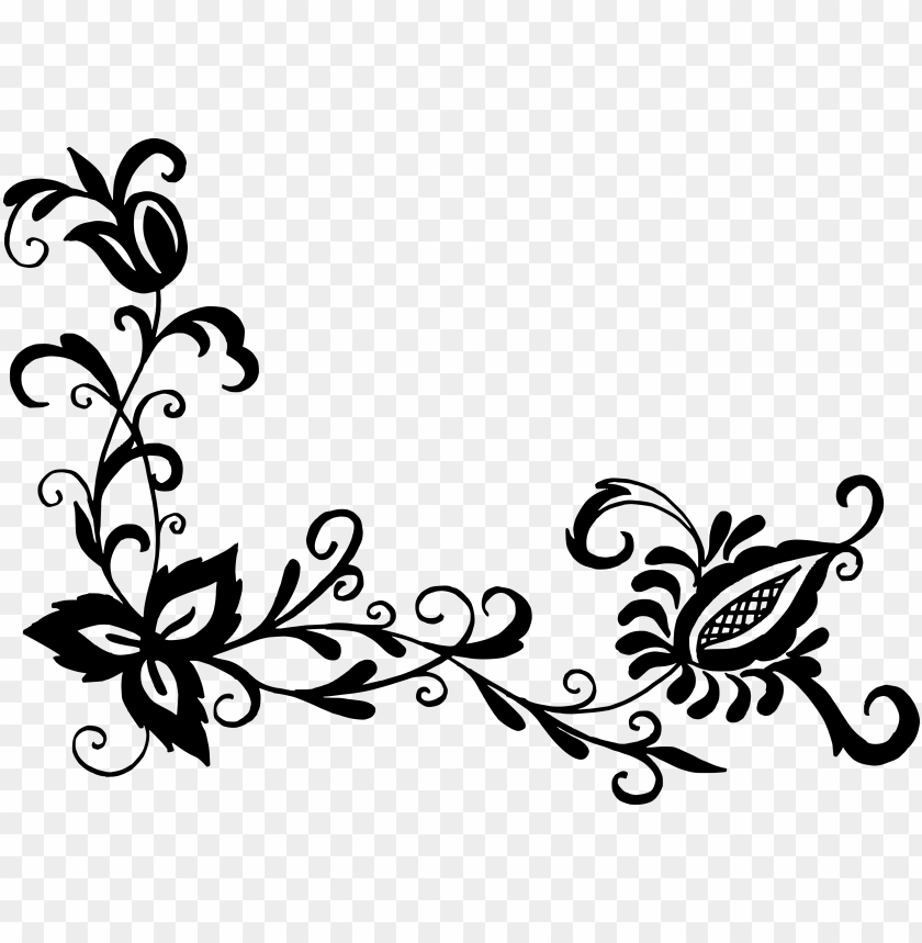 free PNG free download - flowers black pattern PNG image with transparent background PNG images transparent