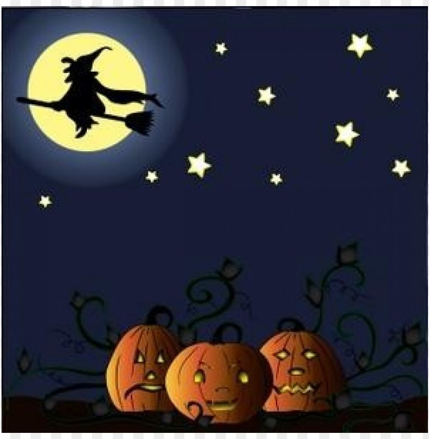 Download free halloween  image halloween witch flying on her broom over clipart png photo  @toppng.com