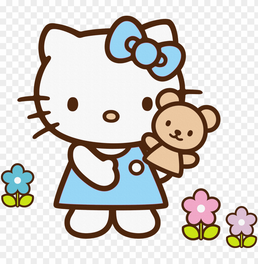 free PNG free hello kitty clipart no 3 - blue hello kitty clipart PNG image with transparent background PNG images transparent