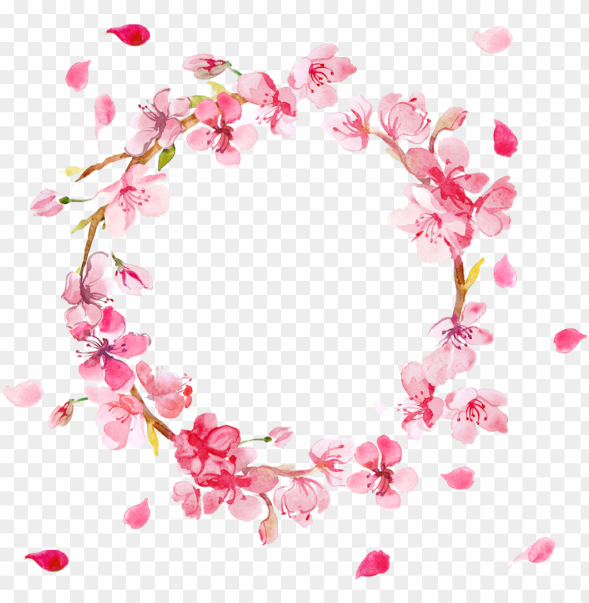 free PNG free pink flowers wreath png - pink flower wreath PNG image with transparent background PNG images transparent
