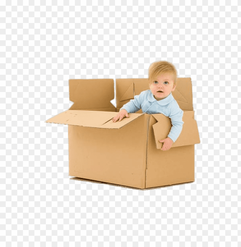 free PNG Download Child In Cardboard Box png images background PNG images transparent
