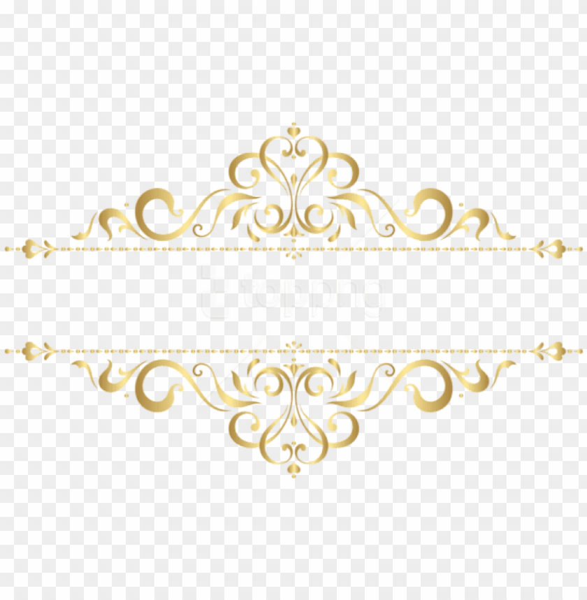 free PNG free png download golden ornament clipart png photo - gold floral ornament PNG image with transparent background PNG images transparent