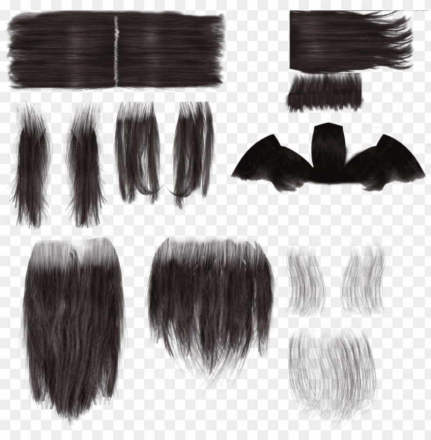 free PNG free png download long hair alpha texture png images - long hair alpha texture PNG image with transparent background PNG images transparent