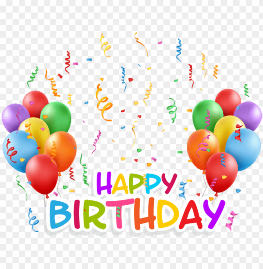 free PNG free png transparent happy birthday and baloons png - happy birthday balloons PNG image with transparent background PNG images transparent